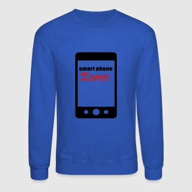 smart phone zombie - Crewneck Sweatshirt