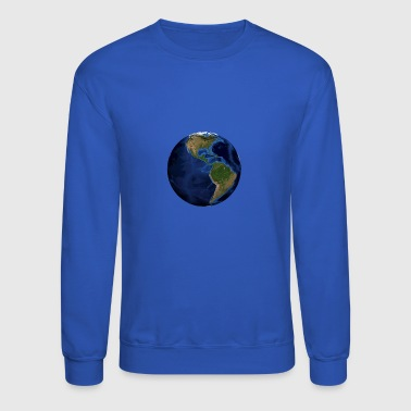 world globe North / South America - Crewneck Sweatshirt
