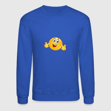 pointing at himself emoticon - Crewneck Sweatshirt