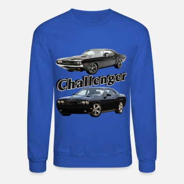 Muscle Car Challenger Old and New - Crewneck Sweatshirt
