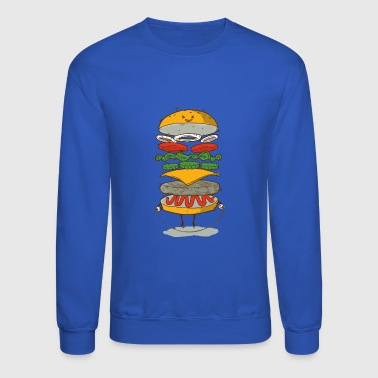 Sporty Fast Food - Crewneck Sweatshirt