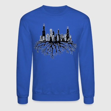 Chicago Skyline Silhouette Vector with Roots Tee - Crewneck Sweatshirt