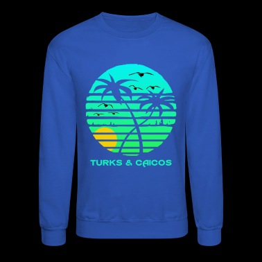 Turks and Caicos Sun Circle Gulls Souvenir - Crewneck Sweatshirt