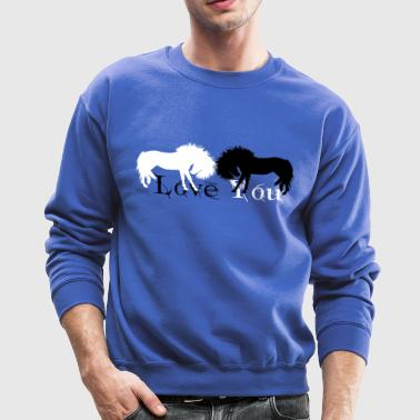 Love you, Horse,Horse, Raider, horse woman, - Crewneck Sweatshirt