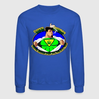 Super Budman Toking Marijuana - Crewneck Sweatshirt
