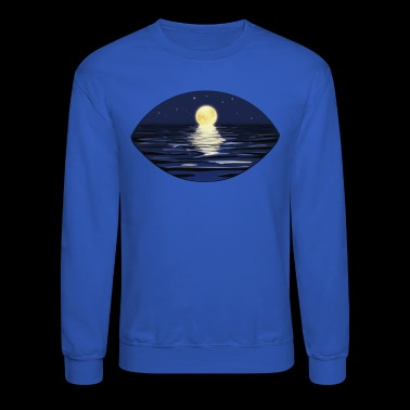 Full moon night in summer with starry sky - Crewneck Sweatshirt