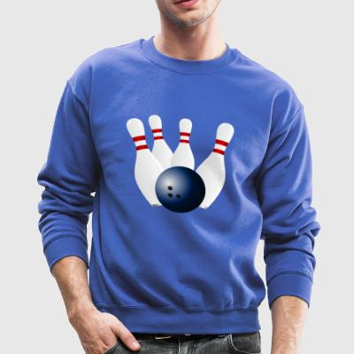 Bowling is a fun sports - Crewneck Sweatshirt
