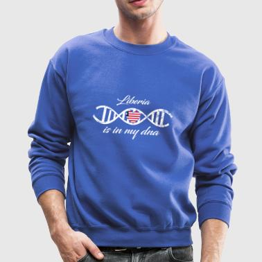 love my dna dns land country Liberia - Crewneck Sweatshirt