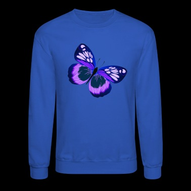 PURPLE AND BLUE BUTTERFLY - Crewneck Sweatshirt