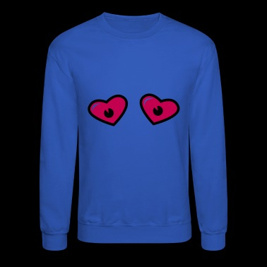 Heart Eyes - Eye love - Comic eyes - Crewneck Sweatshirt