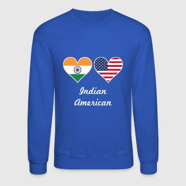 Indian American Flag Hearts - Crewneck Sweatshirt