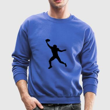 Football Wide Receiver Silhouette - Crewneck Sweatshirt
