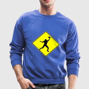 Football Wide Receiver Crossing - Crewneck Sweatshirt