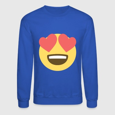 Smiley Love - Hearts Eyes - Crewneck Sweatshirt