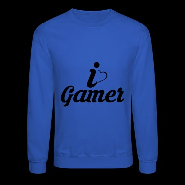 I love gamers - Crewneck Sweatshirt