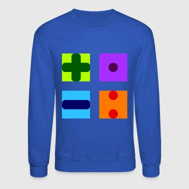 mathematic symbols mathematics maths teacher - Crewneck Sweatshirt