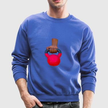 hand and red kettle bell - Crewneck Sweatshirt