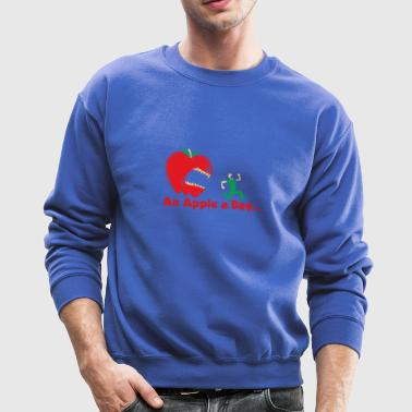 Running With An Apple Funny - Crewneck Sweatshirt