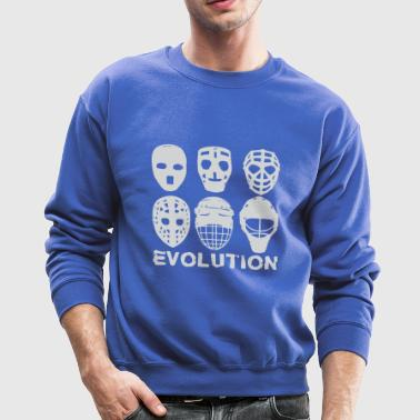 hockey goalie mask evolution - Crewneck Sweatshirt
