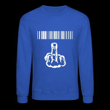 funny provocatively barcode Fuck Off middle finger - Crewneck Sweatshirt