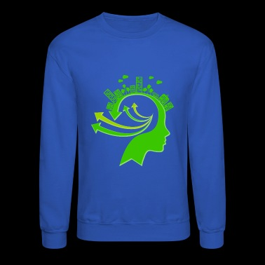 Ecology Concept Illustration - Crewneck Sweatshirt