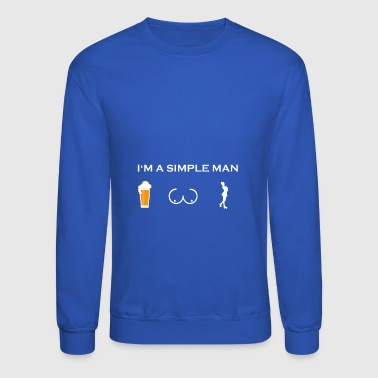 simple man like boobs bier beer titten roller skat - Crewneck Sweatshirt