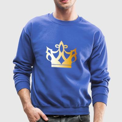 Cool King prince gold VIP crovn lable vector image - Crewneck Sweatshirt
