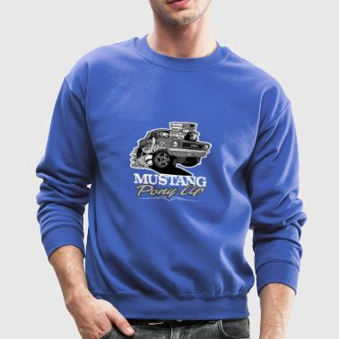 Ford T Shirt 66 Mustang Coupe Monochrome - Crewneck Sweatshirt