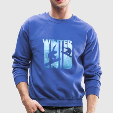 Vintage Winter Holiday Sports. Snowboarding Gifts. - Crewneck Sweatshirt