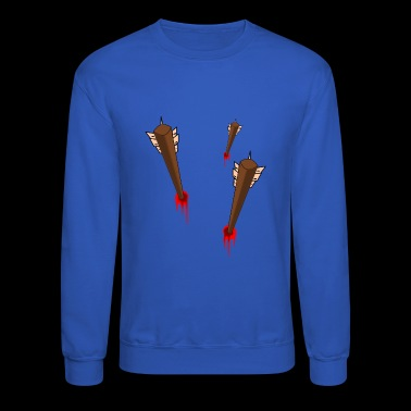 arrow in chest - Crewneck Sweatshirt