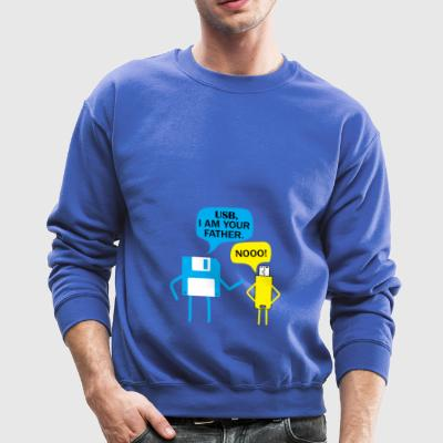 Nerd diskette is the fahter of usb stick gift - Crewneck Sweatshirt