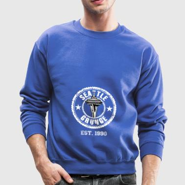 Seattle Grunge T-Shirt Present Gift Birthday Idea - Crewneck Sweatshirt