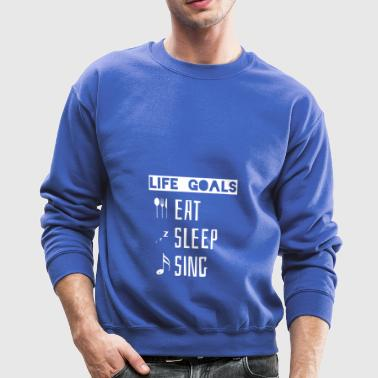 Eat Sleep Sing Choir T Shirt Gift Soprano Alto Bas - Crewneck Sweatshirt
