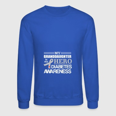 Diabetes Awareness Granddaughter Hero - Crewneck Sweatshirt