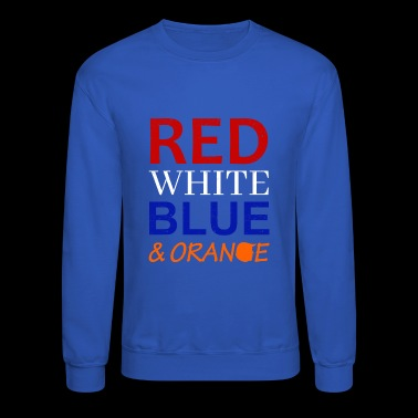Red White Blue and Orange - Crewneck Sweatshirt