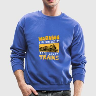 Trains Locomotive Steam Locomotive Railroad track - Crewneck Sweatshirt