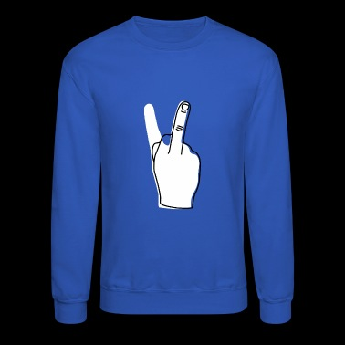 Giving the finger - Sarcastic Provocative - Crewneck Sweatshirt
