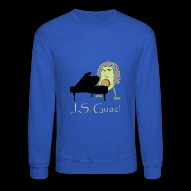 Funny Avocado Design for Vegan Pianists Johann Sebastian Guac - Crewneck Sweatshirt