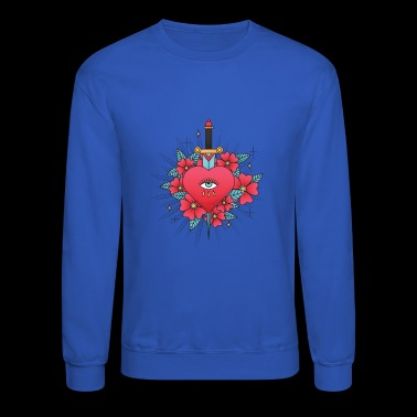 American Traditional Tattoo Heartbroken - Crewneck Sweatshirt