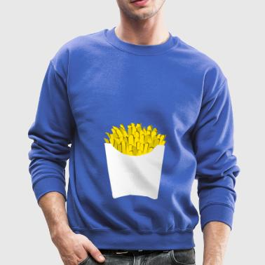 french fries pommes frites fastfood fast food14 - Crewneck Sweatshirt