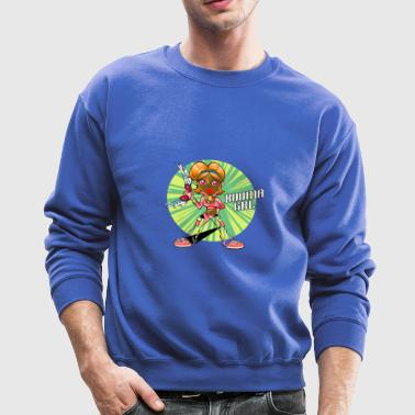 Boomerang Girl cartoon character - Crewneck Sweatshirt