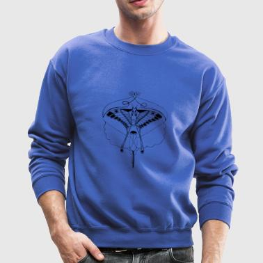Butterfly and bird Illustrated - Crewneck Sweatshirt