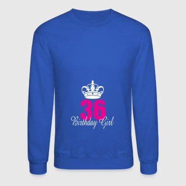 Birthday Girl 36 Years Old - Crewneck Sweatshirt