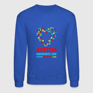 Autism Awareness 2018 Love Autism for Kids Teacher - Crewneck Sweatshirt