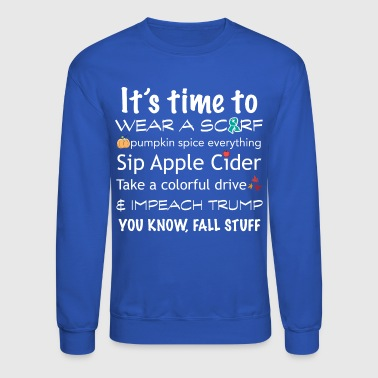 Fall Activity Humor for Dark Backgrounds - Crewneck Sweatshirt