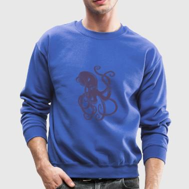 octopus-ocean-marine-animal-sea - Crewneck Sweatshirt