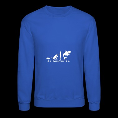 Poker Fish To Shark Evolution Mens Funny Poker - Crewneck Sweatshirt