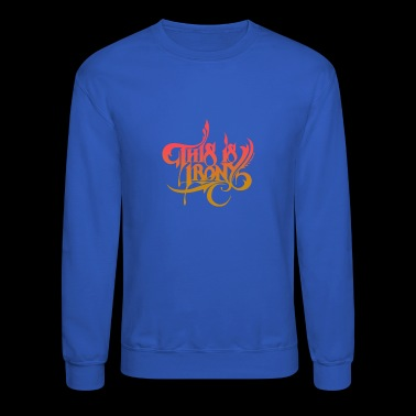This is irony - Crewneck Sweatshirt