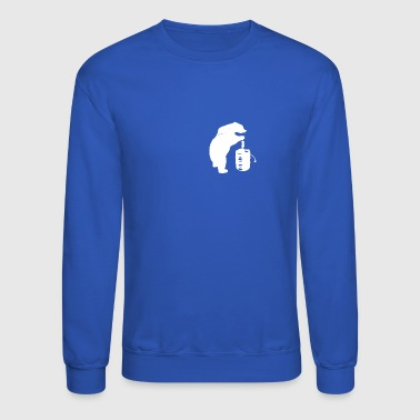 Bear and Beer Keg - Crewneck Sweatshirt