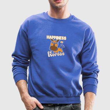 Horses Happiness T-shirt - Crewneck Sweatshirt